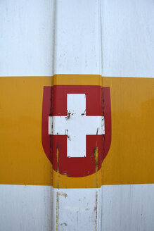 Crest of switzerland on a container - AXF000659