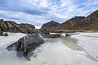Rocks at the coastline of Utakleiv, Lofoten, Norway - STSF000356