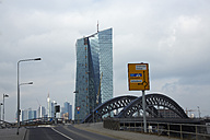 Germany, Hesse, Frankfurt, view to European Central Bank and city skyline in the background - AK000351