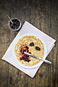 Pancake with blackberry jelly and blackberries - LVF000884