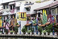 Asia, Malaysia, Malakka, Houses and graffitis - THAF000170