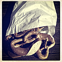 Paper bag with pretzels - LVF000877