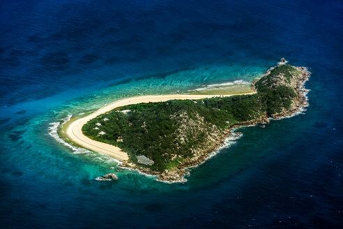 Seychelles, Island Cousine, aerial view - WEF000044