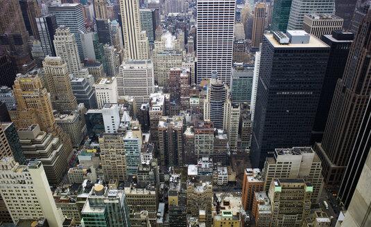 USA, New York, Manhattan, view at street canyons - JWAF000002