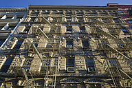 USA, New York, Manhattan, view to facade of old multi-family house in SoHo - JWAF000019