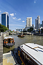 Singapore, Clark Quay and Marina Bay Hotel in the background - THAF000183