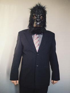 Man in gorilla mask posing - ZMF000263