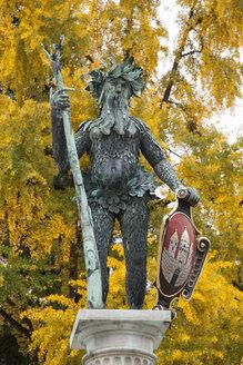 Austria, Salzburg, Statue of Wilder Mann - WIF000521