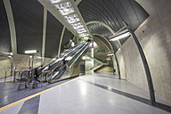 Germany, North Rhine-Westphalia, Cologne, moving stairs at new underground station Heumarkt - JAT000707
