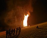 Austria, Vorarlberg, Rhine Valley, Viktorsberg, Bonfire - SIE005200