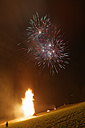 Austria, Vorarlberg, Rhine Valley, Viktorsberg, Bonfire and fireworks - SIE005201