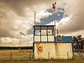 Windsock and tower at airfield, Hartsholm, Germany - FB000306