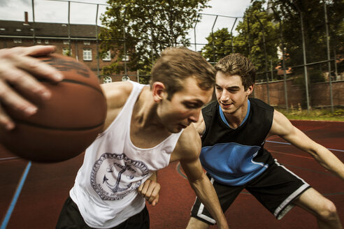 Two young basketball players at duel - GCF000007