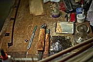 Tools in a violin maker's workshop - DIKF000083