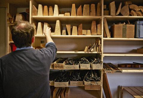 Violin maker choosing wooden material - DIKF000114