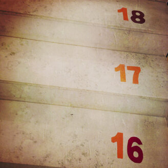 Stair markings in a kindergarten, a symbol of adulthood - GSF000868