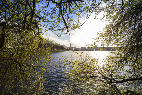 Germany, Hamburg, Inner Alster Lake in spring - KRPF000401