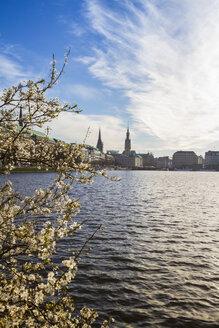 Germany, Hamburg, Inner Alster Lake in spring - KRPF000402