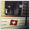 Regional train to the mountains (Gold Pass), Montreux, Vaud, Switzerland - MS003635