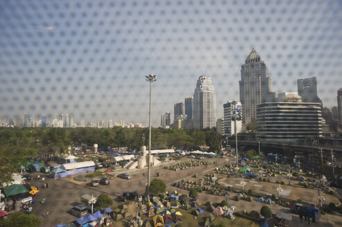 Thailand, Bangkok, Protest camp of demonstrants - AS005319
