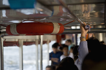 Thailand, Bangkok, People on a ferry - AS005317