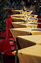 Italy, Rome, Restaurant, empty tables - KAF000118
