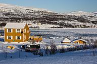 Norway,  Karlebotn, Winterlandscape near Varangerfjord - SR000495