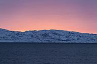 Norway, Sunset at Varangerfjord near Nessebey - SR000491