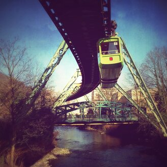 Transport monorail in Wuppertal, Haspeler bridge, Barmen, Wuppertal, Germany - DWI000009