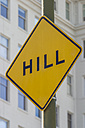 USA, California, San Francisco, hill road sign - NKF000083