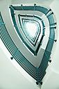 Germany, Saxony, Leipzig, green stairwell - CvK000032