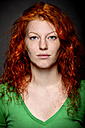 Portrait of a redheaded young woman - CvK000116