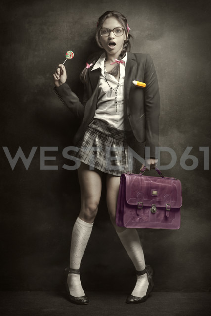 Woman in school uniform - CvK000123