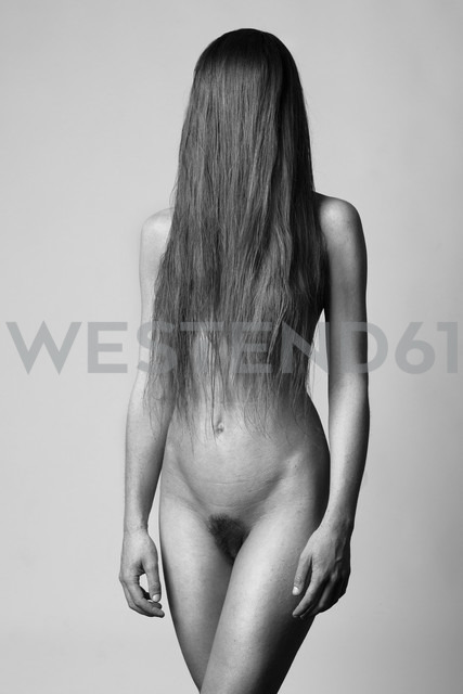 Female nude with hair covering face - CvK000126