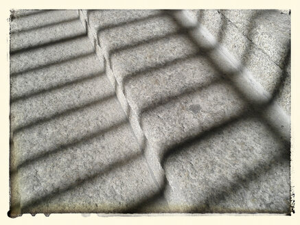 Stairs, silhouette, shadow, grid, abstract, Germany, Berlin - BFRF000390