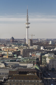 Germany, Hamburg, Cityscape from St. Petri church with TV tower - KRP000422