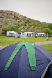 Sweden, Kungshamn, Camping at rock face - BR000206
