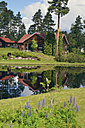 Sweden, Mora, Log cabin by the lakeside - BR000343