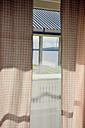 Sweden, Gaeddede, Look through window to a lake - BR000500