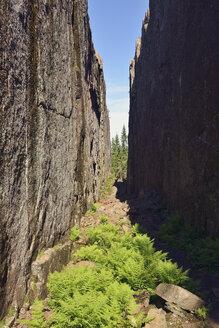 Sweden, Oernskoeldsvik, Skuleskogen National Park, Slattdalsskrevan Canyon - BR000369