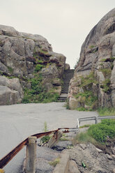 Sweden, Smoegen, Path with stairs through skerry coast - BR000335