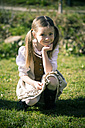 Portait of little girl wearing country style dress - SARF000469
