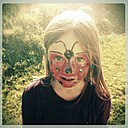 Girl wearing makeup as ladybirds - SARF000461
