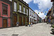 Spain, Canary Islands, Gran Canaria, Old town, Calle Real de la Plaza, Mansions - AM002143