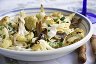 Pasta Alfredo with roasted Cauliflower and Mushrooms - HAWF000099