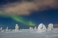 Scandinavia, Finland, Kittilae, Polar lights, Aurora borealis - SR000531