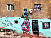 Chile, South America, Valparaiso, graffiti - AVS000123