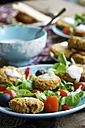 Falafel Salad with home made baked falafel - HAWF000105