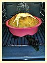 Sponge cake in the oven, baking pan, Studio - CSF021259