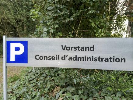Belgium, Henri Chapelle, golf course, information board for Parking Board - HLF000444